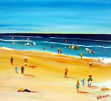 Beach Cricket with Me Mates by Wendy Eriksson