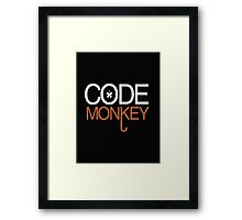 Code Monkey - T - Shirts & Hoodies Framed Print