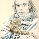 Eno & cat by Peter Brandt