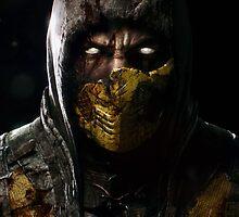Scorpion Damaged Mortal Kombat X by modernmistakes
