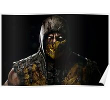 Scorpion Damaged Mortal Kombat X Poster