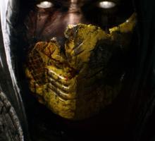 Scorpion Damaged Mortal Kombat X Sticker