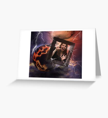 Lost in outer space Greeting Card