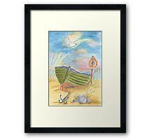 Home is where the anchor is Framed Print