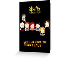 Buffy the Vampire Slayer as South Park Greeting Card
