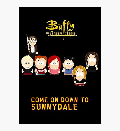 Buffy the Vampire Slayer as South Park Photographic Print