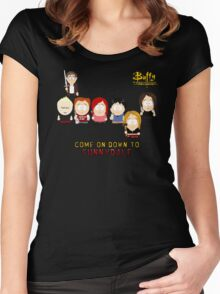 Buffy the Vampire Slayer as South Park Women's Fitted Scoop T-Shirt