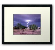 Monsoon Strike Framed Print