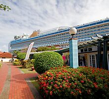 Azura docked in St Lucia by Keith Larby