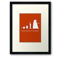 Dalek March of Progress White Framed Print