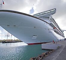 Azura docked in Antigua in the Caribbean by Keith Larby