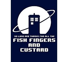 Fish Fingers and Custard White Photographic Print