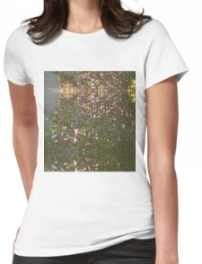 Flowers on 35mm Womens Fitted T-Shirt