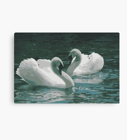 Love on Water Canvas Print