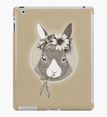 Bunny ink illustration iPad Case/Skin