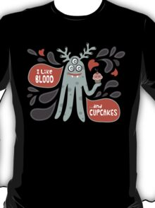 Cute and Creepy Vampire illustration...with a cupcake T-Shirt