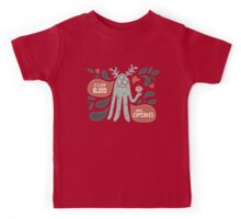 Cute and Creepy Vampire illustration...with a cupcake Kids Tee