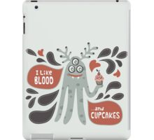 Cute and Creepy Vampire illustration...with a cupcake iPad Case/Skin