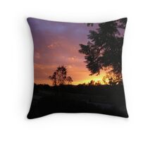 Sunset In Alls Its Glory Throw Pillow