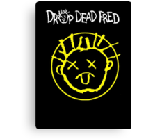 Drop Dead Fred Smiley Face Canvas Print