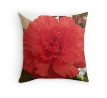 red tuberous begonia Throw Pillow