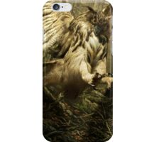 Natural environment diorama - A owl attacking a hedgehog iPhone Case/Skin