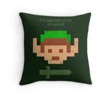 Dangerous to go alone. Throw Pillow