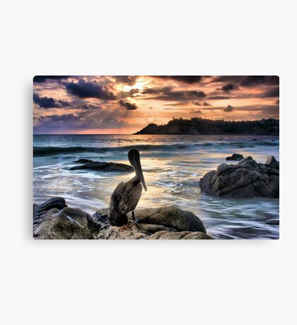 Sunset in Puerto Escondido Canvas Print