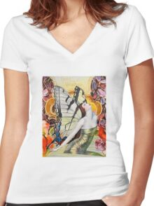 Kiss The Sky Women's Fitted V-Neck T-Shirt