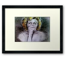 Smoking Marilyn  Framed Print