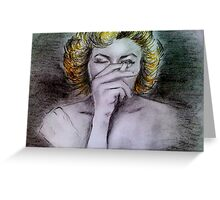 Smoking Marilyn  Greeting Card