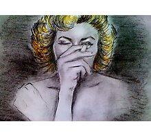 Smoking Marilyn  Photographic Print