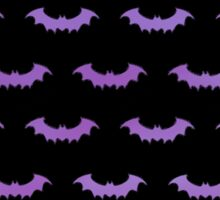 Cute Bats - Black with Blue and Purple Gradient Sticker