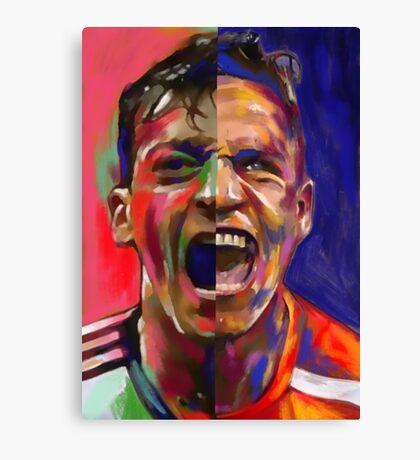 Alexis Sanchez & Mesut Ozil  Canvas Print