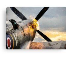 Spitfire FIRING UP - Fantastic Spitfire WWII art - world war 2 art / aviation art Canvas Print