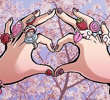 Heart Hands - Sakura Trees by DragonBeak