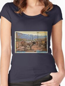 Cattle, Lone Pine Women's Fitted Scoop T-Shirt
