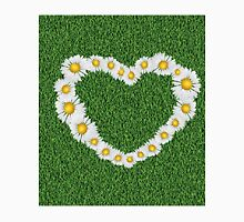Daisy heart on grass Unisex T-Shirt