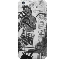 Basquiat V Warhol B&W iPhone Case/Skin