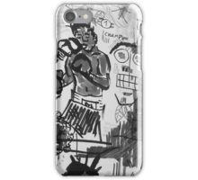 Basquiat V Warhol B&W iPhone Case/Skin