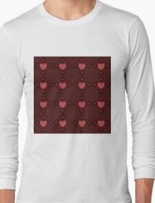 Dark red hearts ornament 3 Long Sleeve T-Shirt