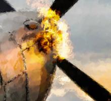 Spitfire FIRING UP - Fantastic Spitfire WWII art - world war 2 art / aviation art Sticker
