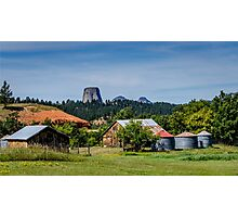 Devils Tower - Scenic Back Roads Photographic Print