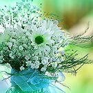 Daisies and Baby's Breath by Darlene Lankford Honeycutt