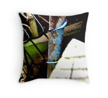 Decayed Fence! Throw Pillow