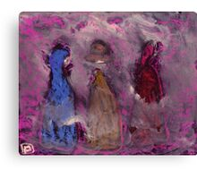 3 People in a fog Canvas Print