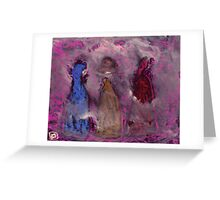3 People in a fog Greeting Card