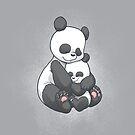 Panda Hug by dooomcat