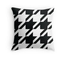vintage houndstooth  Throw Pillow