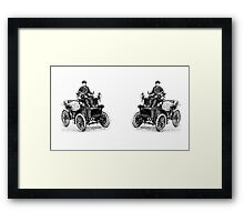 Classic Vintage Antique Car with Driver Framed Print